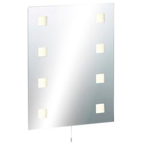 Knightsbridge Illuminated Decorative Rectangular Bathroom Wall Mirror Ip44 Rated Glass 3362AWUK RCT6045, Glass