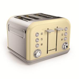 Morphy Richards Cream Accents 4 Slice Toaster 6065AWUK 242003, Cream