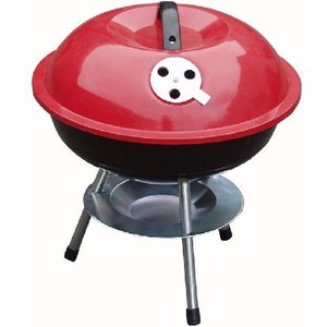 Redwood Mini Portable Barbecue With Enameled Red Finish  7284AWUK BBQ 201