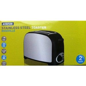 Status Roseville 750w 2 Slice Stainless Steel Toaster  8314AWUK 2SLSSTROSEVILLX4