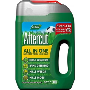Westland Aftercut All In One Lawn Feed, Weed And Moss Killer Even-flo Spreader, 80 M2, 2.8 Kg  8250AWUK 20400459