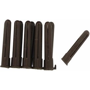 Zexum Brown Plastic 4-6mm Rawl Wall Plugs - 100 Pack  5791AWUK BROWN/WALL/100PK