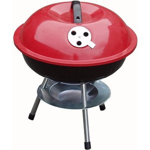Zexum Mini Portable Barbecue With Enameled Red Finish 6034AWUK HBBQ1R, Red