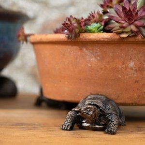 Antique Bronze Coloured Tortoise Potty Feet - Plant Pot Feet Pf0084 Garden & Leisure