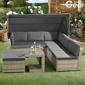 Garden Gear California Rattan Daybed With Canopy G3906 Garden & Leisure