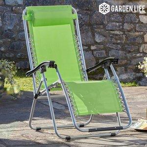 Garden Gear Zero Gravity Chair - Apple Green G3728 Sheds & Garden Furniture