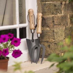 Kent & Stowe Carbon Steel Hand Trowel And Fork Set 81187 Garden & Leisure