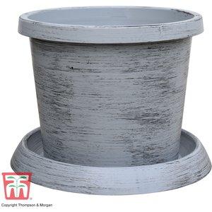 T&m Modern Grey Patio Pot Kb0905 Garden Tools
