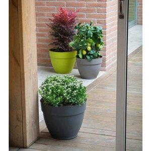 Ninfea Water Resevoir Planter 22cm Pot - Anthricite 505411 Garden Tools