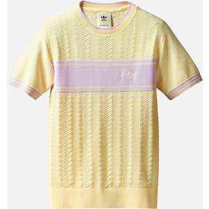 Adidas X Wales Bonner Men's Knitted T-shirt - Mist Sun - L Yellow Gu0751 Tops Clothing Accessories, Yellow