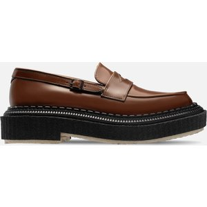Adieu Men's Type 162 Leather Loafers - Gold Brown - Uk 9 Shoes, Brown