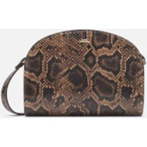 A.p.c. Women's Demi-lune Python Cross Body Bag - Brown  PXBJZ F61048 CAE  Bags, Brown