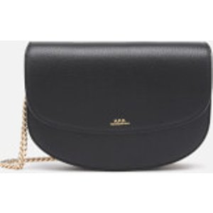 A.p.c. Women's Geneve Chain Cross Body Bag - Black  PXBLH F63318 LZZ  Bags, Black