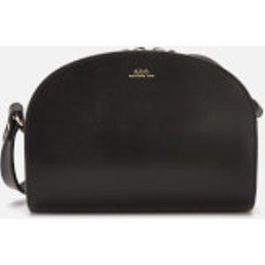 A.p.c. Women's Mini Demi-lune Cross Body Bag - Black  PXAWV F61392 LZZ  Bags, Black