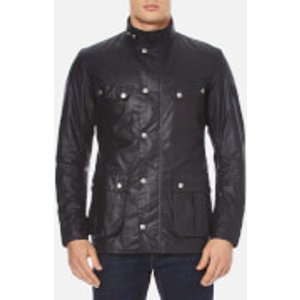 Barbour International Men's Duke Wax Jacket - Navy - M Blue  MWX0337NY91 Coats and Jackets Womens Outerwear, Blue