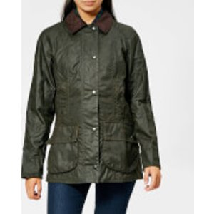 Barbour Women's Beadnell Wax Jacket - Olive - Uk 8 Green  LWX0668ol71 Coats and Jackets Womens Outerwear, Green