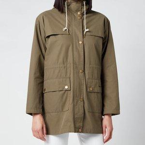 Barbour X Alexa Chung Women's Blanche Casual Jacket - Khaki/dress Gordon - Uk 8 Green Lca0282kh51 Coats And Jackets Clothing Accessories, Green