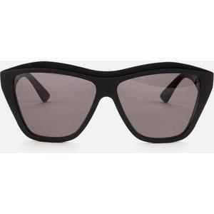 Bottega Veneta Women's Oversized Acetate Sunglasses - Black Bv1092s 001 Womens Accessories, Black