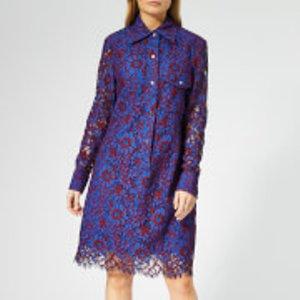 Calvin Klein Women's Lace Dress - Blue Lace - Uk 10 - Blue  K20K200491412 Dresses Womens Dresses & Skirts, Blue