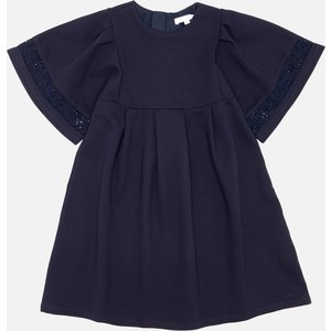 Chloé Girls' Smock Dress - Navy - 6 Years Blue C12843/859 Dresses Childrens Clothing, Blue