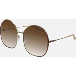 Chloé Women's Irene Oversized Round Sunglasses - Brown Ch0014s 003 62 Womens Accessories, Brown
