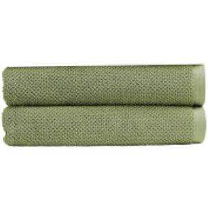 Christy Brixton Towel - Set Of 2 - Khaki - Bath Towel - Set Of 2 Green  5057241153281  Home Textiles, Green