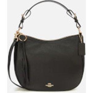 Coach Women's Leather Sutton Hobo Bag - Black  35593  Bags, Black