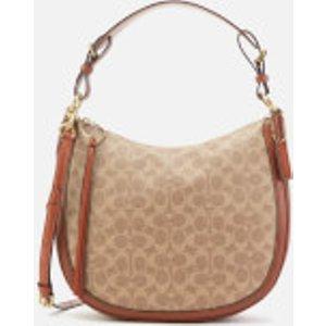 Coach Women's Signature Sutton Hobo Bag - Tan Rust Brown  38580 B4NQ4  Clothing Accessories, Brown