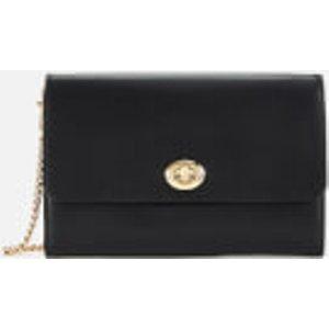 Coach Women's Turnlock Chain Cross Body Bag - Black  38966  Bags, Black