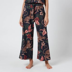 Desmond & Dempsey Women's Soleia Wide Leg Trousers - Navy - L Blue Soleiawideleg Underwear And Nightwear, Blue