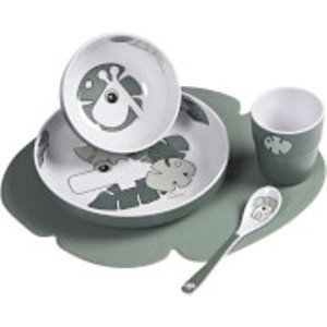 Done By Deer Tiny Tropics Dinner Set Green  1592613  Home Accessories, Green