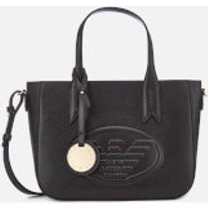 Emporio Armani Women's Frida Small Eagle Tote Bag - Black  Y3D083 YH18A 80001  Bags, Black