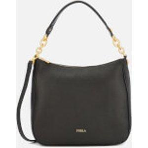 Furla Women's Cometa Medium Hobo Bag - Black  998485 O60  Clothing Accessories, Black