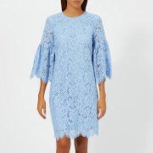 Ganni Women's Jerome Lace Dress - Serenity Blue - Eu 34/uk 6 - Blue  F2785 Dresses Womens Dresses & Skirts, Blue
