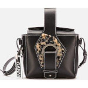 Ganni Women's Leather Cross Body Bag - Black  A2139 099  Bags, Black