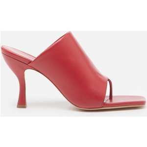 Gia Couture X Pernille Women's Perni 80mm Leather Toe Post Heeled Mules - Oxblood - Uk 5 Red Perni0208a3 Sandals Shoes, Red