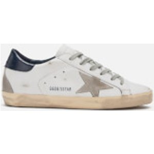 Golden Goose Deluxe Brand Women's Superstar Leather Trainers - White/blue/cream - Uk 8 Gcows590.a7 Womens Footwear, White