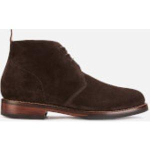 Grenson Men's Wendell Suede Desert Boots - Chocolate - Uk 10 - Brown  112346 Mens Footwear, Brown