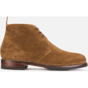 Grenson Men's Wendell Suede Desert Boots - Snuff - Uk 10 - Tan  112347 Mens Footwear, Tan