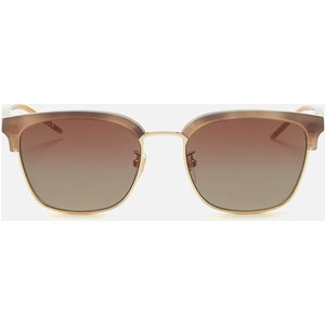 Gucci Men's Acetate Frame Sunglasses - Shiny Taupe Havana Tan Gg0846sk Womens Accessories, Tan