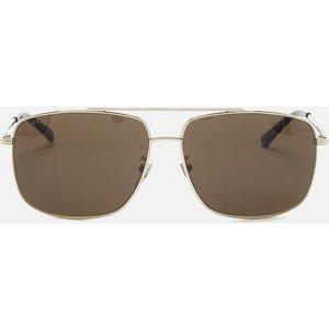 Gucci Men's Metal Frame Sunglasses - Shiny Silver Gg0836sk Womens Accessories, Silver