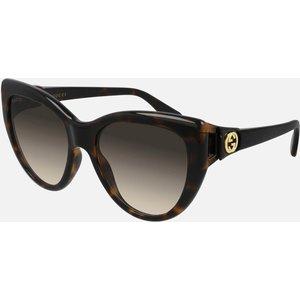 Gucci Women's 70's Fork Acetate Sunglasses - Havana/havana/brown Gg0877s Womens Accessories, Brown