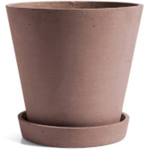 Hay Flowerpot With Saucer - Extra Large - Terracotta  506682  Home Accessories, Terracotta