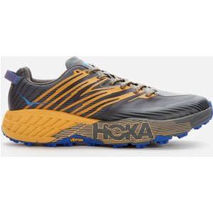 Hoka One One Men's Speedgoat 4 Trainers - Castlerock/golden Yellow - Uk 10 Grey 1106525 Cgyw Shoes, Grey