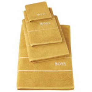 Hugo Boss Plain Towels - Topaz - Bath Towel - Yellow  H1K107IB  Home Textiles, Yellow