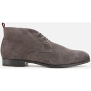 Hugo Men's Boheme Faux Fur Lined Suede Desert Boots - Grey - Uk 9  50417947 021 Mens Footwear, Grey