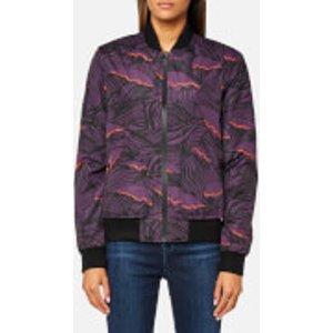 Hunter Women's Original Insulated Bomber Jacket - Pale Sand/pink - Uk 14 - Multi  WRO1134SAI PRS Coats and Jackets Womens Outerwear, Multi