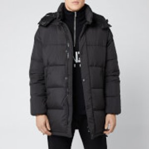 Kenzo Men's Elongated Down Jacket - Black - S - Black F965ou6291nw 99 Coats And Jackets Womens Outerwear, Black
