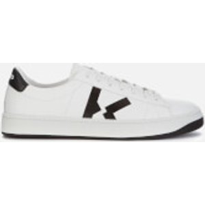Kenzo Men's Logo Leather Low Top Trainers - White - Uk 9 Fa65sn170l50 01 Mens Footwear, White
