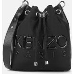 Kenzo Women's Neoprene Logo Bucket Bag - Black  F962sa401f03.99  Clothing Accessories, Black